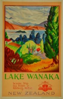 VINTAGE MARLBOROUGH SOUND NEW ZEALAND VACATION TRAVEL AD POSTER ART CANVAS PRINT