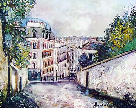 Maurice Utrillo - Page 2 1044_Street_in_Montmartre_Utrillo_Maurice