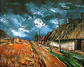 Thatched Cottages By Maurice De Vlaminck New Zealand Fine