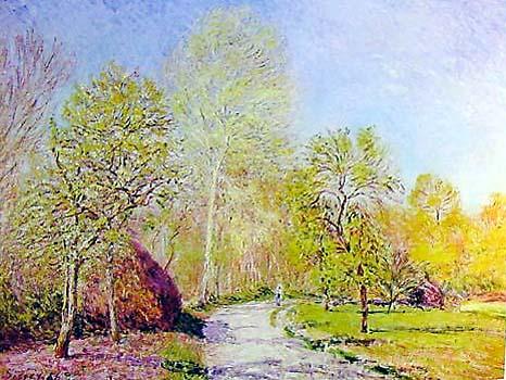 Autumn landscape by alfred sisley for sale new zealand for Artworks landscape ltd
