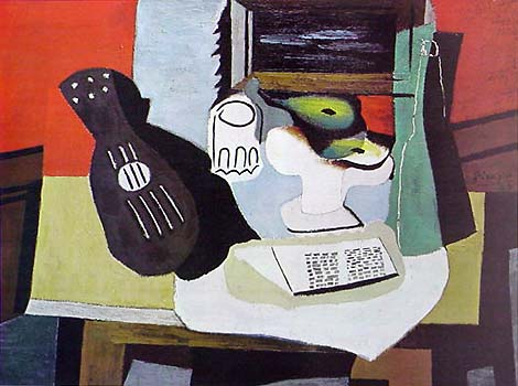 1334 Guitar Glass and Fruit Dish Picasso Pablo jpgFruit Dish And Glass