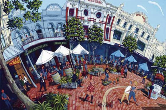 cuba street cool by timo  new zealand fine prints