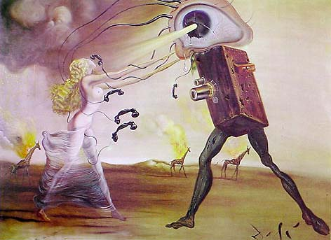 Burning Giraffes And Telephones By Salvador Dali For Sale
