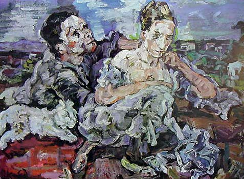 Lovers With Cat By Oskar Kokoschka New Zealand Fine Prints
