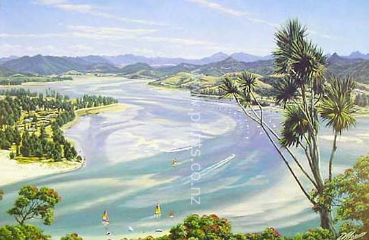 Pauanui Beach New Zealand  City new picture : Pauanui Beach & Tairua Harbour by Peter Morath for Sale New Zealand ...
