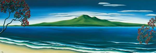 Rangitoto By Diana Adams New Zealand Fine Prints