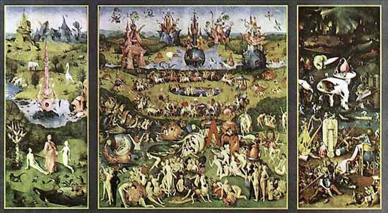 Garden of Earthly Delights by Hieronymus Bosch 36x24 Art