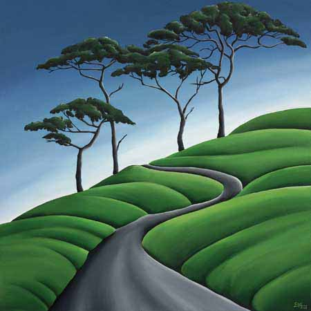 Sinuous Path Canvas Print By Diana Adams New Zealand Fine