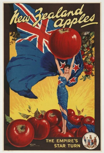 New Zealand Apples Vintage Advertising Poster New Zealand
