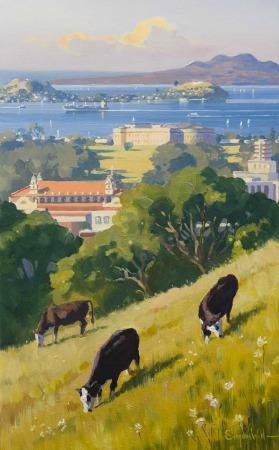 Mt Eden View Canvas Print by Simon Williams