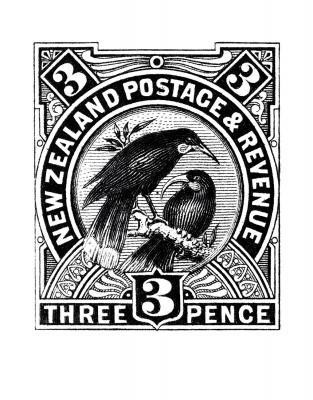 Close huia stamp print