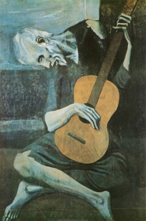 Old Guitarist Print By Pablo Picasso New Zealand Fine Prints