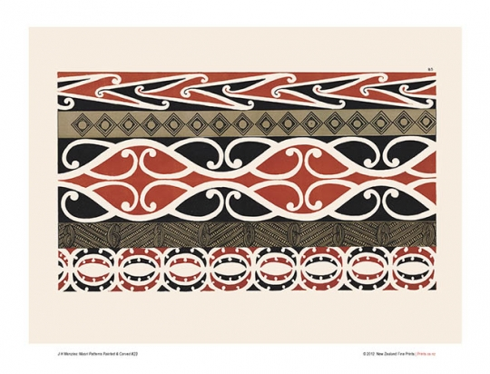 Design 40 Maori Patterns Painted Carved New Zealand Fine Prints Enchanting Maori Patterns