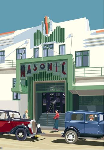 Art deco prints nz for Deco hotel napier