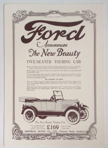 Vintage Ford Advertisement New Zealand Fine Prints