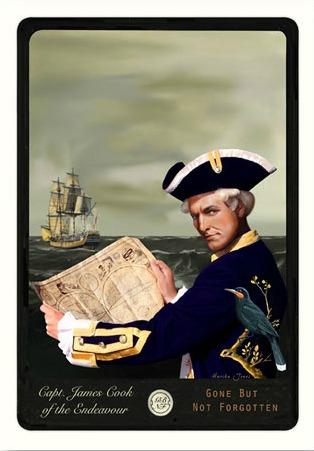 Captain James Cook By Marika Jones New Zealand Fine Prints