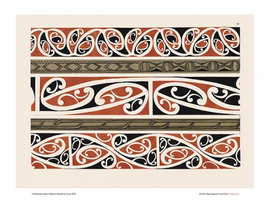 Design 40 Maori Patterns Painted Carved New Zealand Fine Prints Extraordinary Maori Patterns