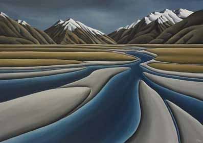 River S Journey By Diana Adams New Zealand Fine Prints